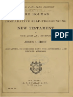 The Holman Comparative Self-Pronouncing New Testament (1898)