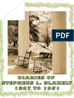 DIARIES OF STEPHENS LAURIE BLAKELY