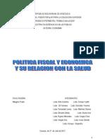 Relacion Entre Politica Economica y Fiscal.
