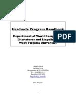 grad handbook for different grad students of WVU
