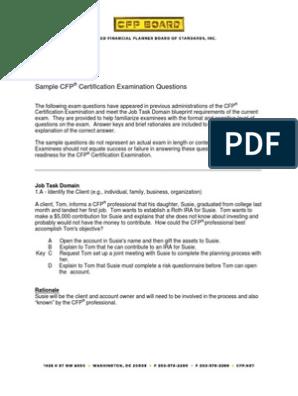 Cfp investment planning sample questions irene goh alliancebernstein investments