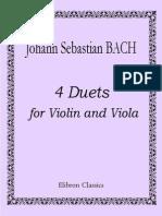 - Bach - 4 Duets Para Violino e Viola [Vl, Va]