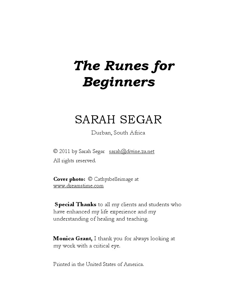 The Runes For Beginners   Norse Mythology   Psychological Concepts