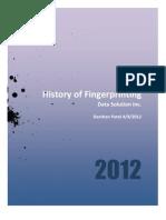 History of fingerpring