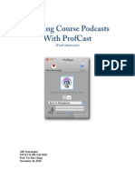 Creating Podcasts with ProfCast (Learner Analysis)
