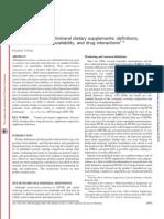 Multivitaminicos Minerales Suplementos Biodisponibilidad AJCN 2007