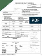 members data form