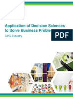 Application of Decision Sciences to Solve Business Problems in the Consumer Packaged Goods (CPG) Industry