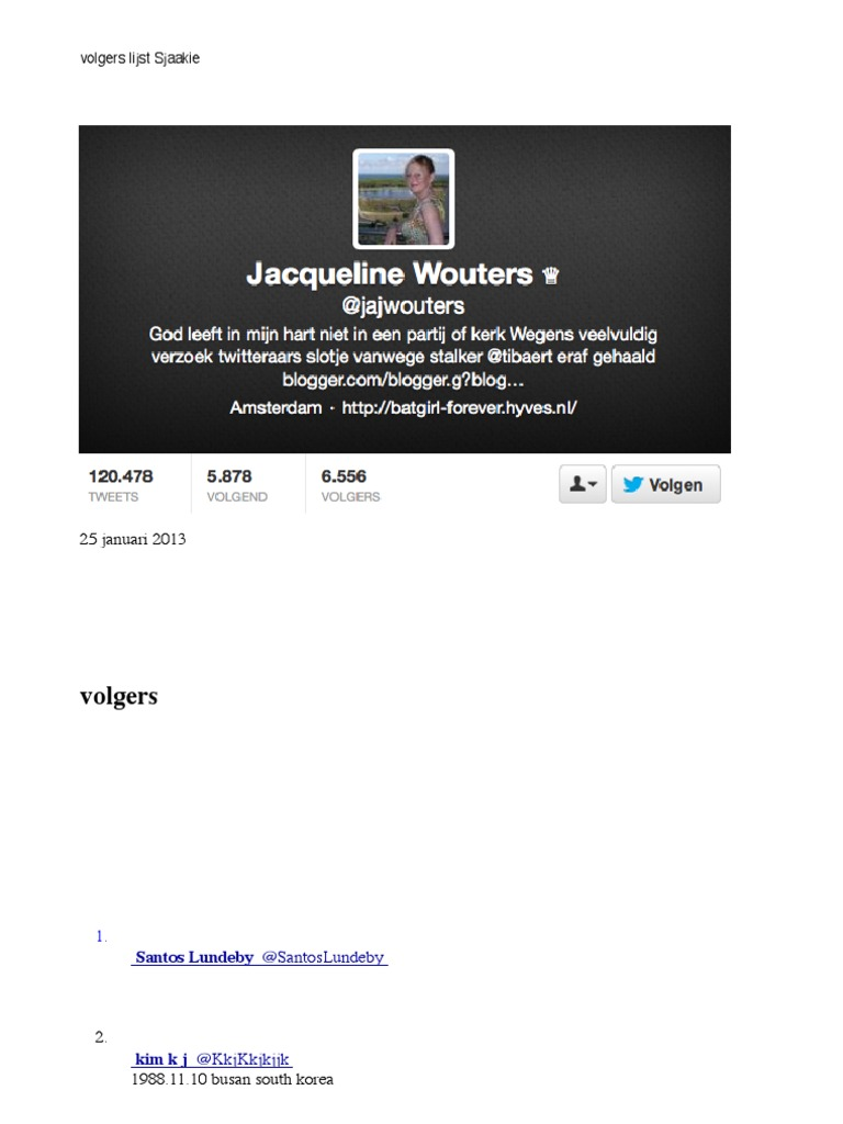 Volgerslijst jacqueline wouters fandeluxe Image collections