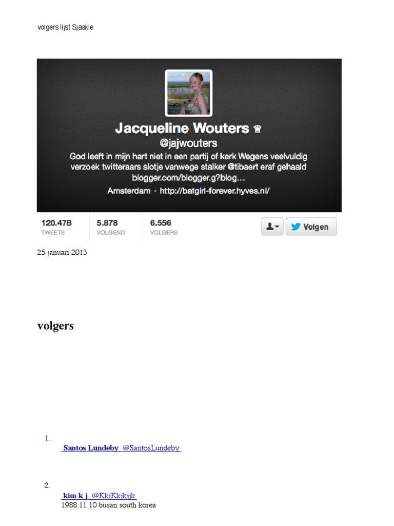 Volgerslijst jacqueline wouters fandeluxe Images