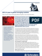 2013 a Year in Global Emerging Markets - Schroders Outlook