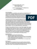 Environmental Ethics Syllabus