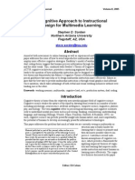 A Cognitive Approach to Instructional Design