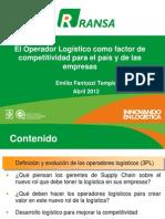 El Operador Logístico como factor de competitividad para el país y de las empresas