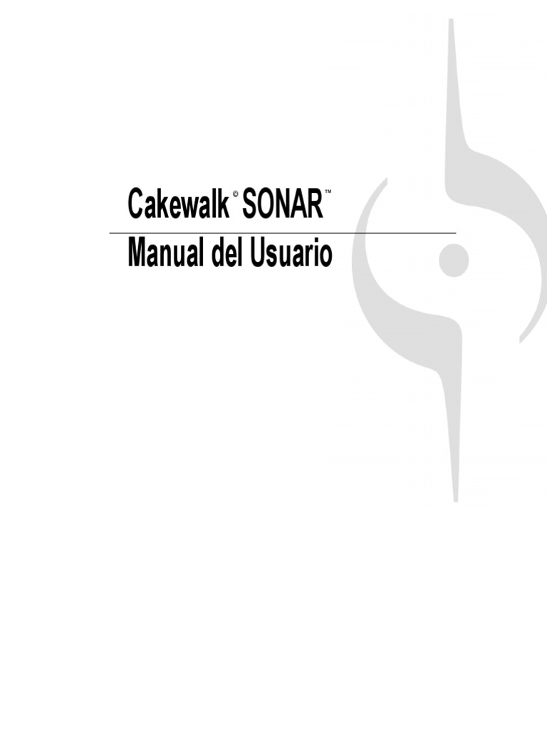 SONAR 8 Manual Del Usuario