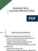 Administración de la Memoria y Memoria Virtual