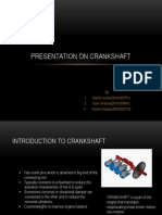 Presentation on crankshaft