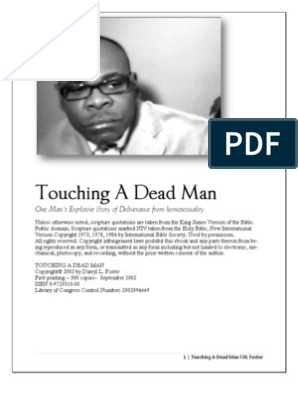 Ex-gay D  L  Forster - Touching A Dead Man | Jesus | Prayer