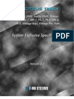E-MU Proteus 2000 Series Sysex Manual V2.2