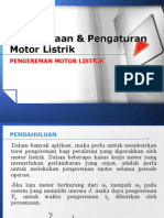 Penggunaan dan Pengaturan Motor Listrik