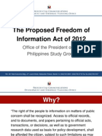 The Proposed FOI Act of 2012