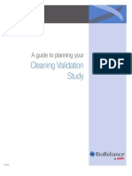 Cleaning validation Study