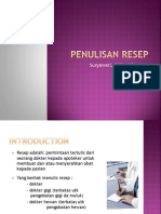 Penulisan Resep-21 April