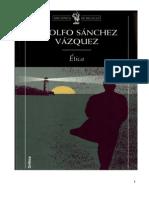 Adolfo Sánchez- Ética