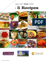 5 in 5 Raw food Recipes