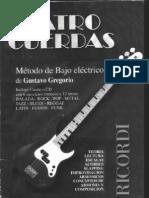 Cuatro Cuerdas(Metodo de Bajo Electrico)