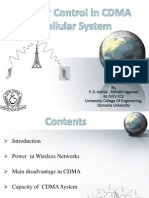 Power Control In CDMA Systems