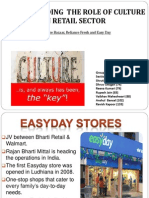 organisation culture of easy day, big bazar and reliance fresh