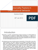Ten Personality Trait