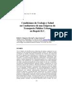 Diagnostico de Condiciones de Salud Conductores 1998