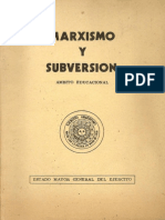 Dictadura - Marxismo y Subversion Educacional