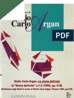 C. G. Argan, La storia dell'arte, 1969