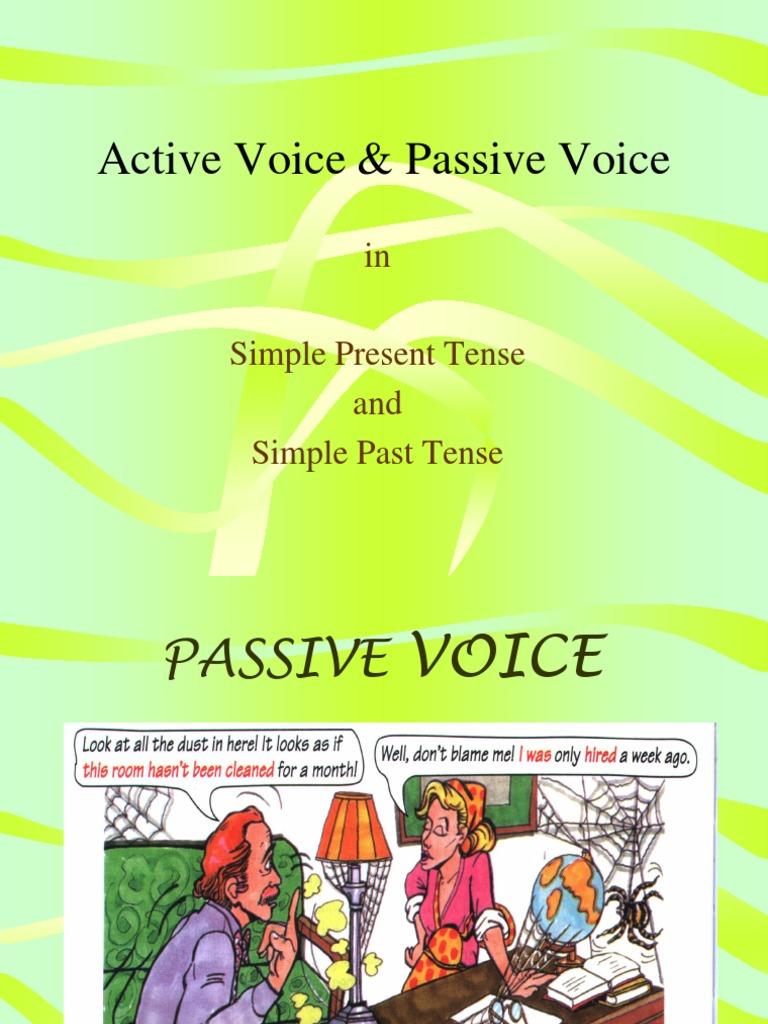 transformar oraciones a passive voice