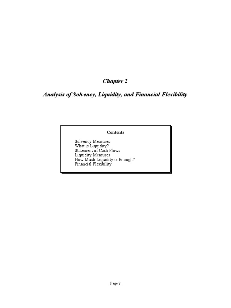 Liquidity analysis. Analysis of solvency and liquidity of assets of the company 23