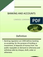 Banking and Accounts