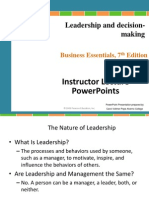 Chapter 9 Leadership and Decision-Making
