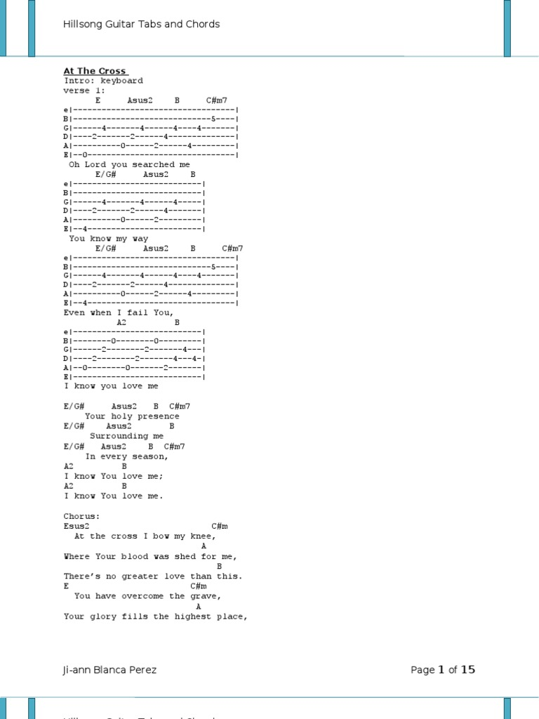 Hillsong United Tablature And Chords Song Structure Jesus