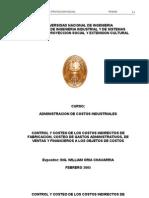 Costeo de los Costos Indirectos de Fabricacion, Costeo de Gastos Administrativos, de Ventas y Financieros