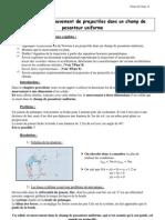 Physique D Chap11 Mouvement Projectile