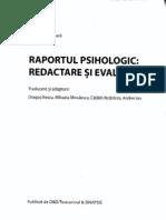Raportul Psihologic- Redactare si Evaluare 1