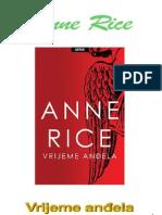 Anne Rice- Vrijeme andjela