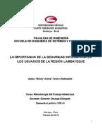 La importancia de la Seguridad Informática en los Usuarios de la Región Lambayeque