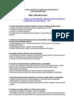 TERAPIE EDUCATIONALA COMPLEXA SI INTEGRATA - 2013