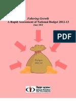 Bangladesh National Budget (FY) 2012-13