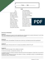 Interpretação 6° e  7° ano - Quim (QUINTA-FEIRA)