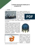Programas de diseño estructural creados por la compañía CSI